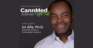 CannMed Podcast Coffee Talk Blog Cover with Ina Afia PHD at CannaSafe