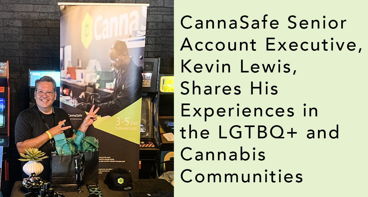 Graphic of Kevin Lewis for LGBTQ+ and Cannabis Communities