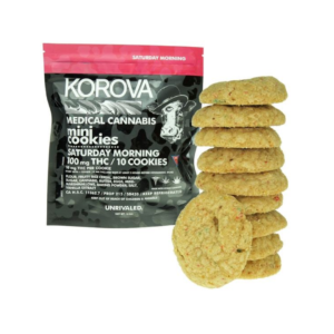 Korova Medical Cannabis Mini Cookies 10 MG THC Saturday Morning for Fourth of July