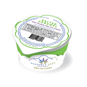 Heavenly Hash Creamery CBD Ice Cream - Salted Carmel