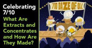 Celebrating 7/10 - Illustration of Concentrates on 7/10
