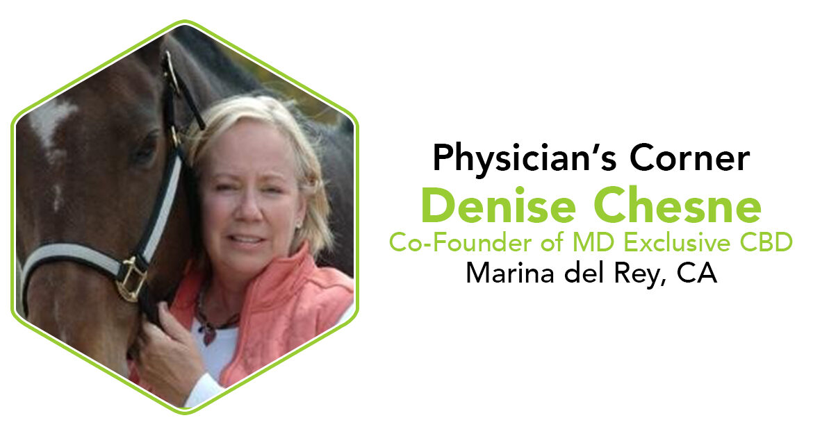 Nurse Denise Chesne MD Exclusive CannaSafe Physician's Corner Cannabis Article Cover