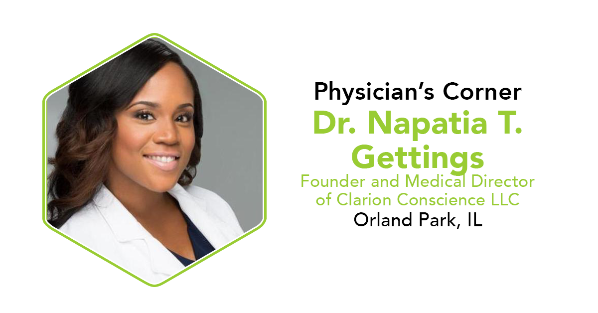 Dr. Napatia T. Gettings Physician's Corner CannaSafe Interview